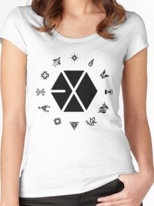 EXO Shirt Women's Fitted Scoop T-Shirt