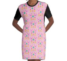 Makeup and mirrors Graphic T-Shirt Dress