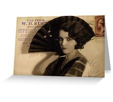 Femme Fatale in Sepia Greeting Card