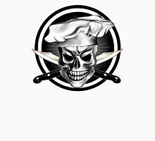 Chef Skull Black 3 Unisex T-Shirt