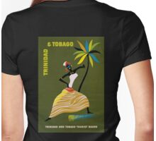 Vintage Trinidad and Tobago Caribbean woman travel advert Womens Fitted T-Shirt