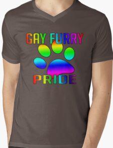Gay Furry Pride Mens V-Neck T-Shirt