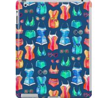 Sixties Swimsuits and Sunnies on dark blue iPad Case/Skin