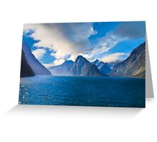 Milford Sound, New Zealand on a Sunny Day Greeting Card