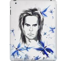 Nick Cave and butterflies iPad Case/Skin