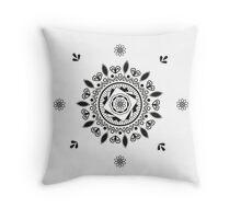 Maggic Peace Mandala Throw Pillow