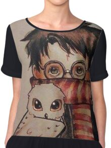 harry and hedwig Chiffon Top