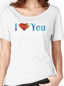I Love You 10 - Heart Hearts Romantic Art Women's Relaxed Fit T-Shirt