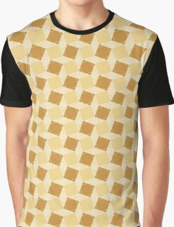 Dancing Squares in Gold Graphic T-Shirt