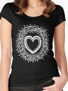Sacred Heart  Women's Fitted Scoop T-Shirt
