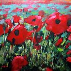 Field of Poppies. Painting by Samuel Durkin by Samuel Durkin