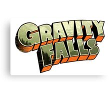 Gravity Falls logo Canvas Print