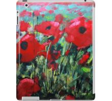 Field of Poppies. Painting by Samuel Durkin iPad Case/Skin