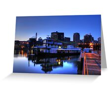 Tugboat at Night Greeting Card