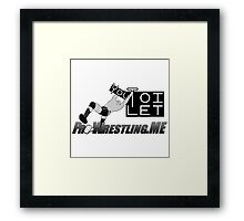 "PWME - ""You Toilet"" (RKO Edition) Framed Print"