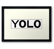 YOLO Framed Print
