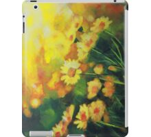 Daisies in the Sun landscape Flower painting by Samuel Durkin iPad Case/Skin