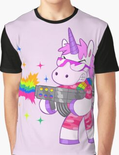 Bad-Ass Barney The Unicorn Graphic T-Shirt