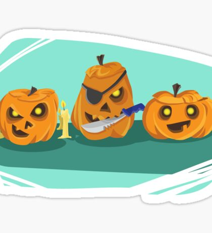 Scary Jack-O-Lanterns Sticker