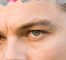 LEONARDO DICAPRIO FLOWER CROWN Sticker
