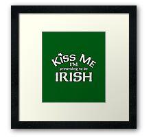 I Am Irish Framed Print