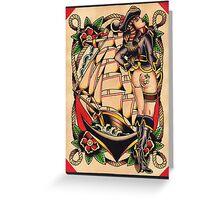 Sexy Pirate Girl Greeting Card