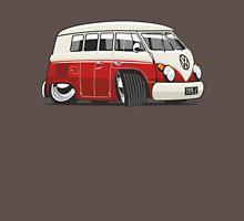 VW T1 Microbus cartoon red Unisex T-Shirt