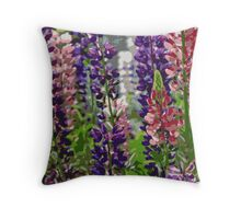 Lupins Throw Pillow