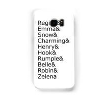 Once Upon A Time - Names (Black) Samsung Galaxy Case/Skin