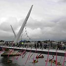 Opening of Derry Peace Bridge  -Derry Ireland by mikequigley