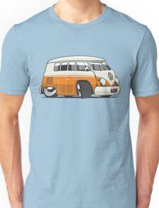 VW T1 Microbus cartoon orange Unisex T-Shirt