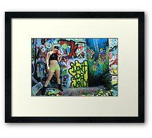 Graffiti Park - Model Shoot - Lin Tutu Framed Print