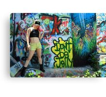 Graffiti Park - Model Shoot - Lin Tutu Canvas Print