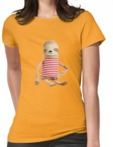 Dope Ass Sloth Womens Fitted T-Shirt