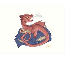 Baby Smaug - commissioned by smauglet Art Print