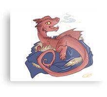 Baby Smaug - commissioned by smauglet Metal Print