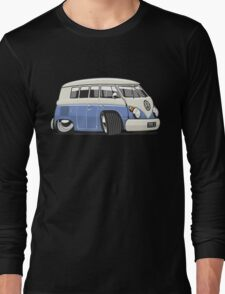VW T1 Microbus cartoon blue Long Sleeve T-Shirt