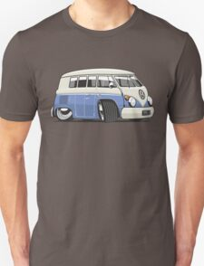 VW T1 Microbus cartoon blue Unisex T-Shirt
