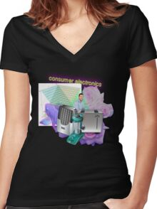 Consumer Electronics Women's Fitted V-Neck T-Shirt