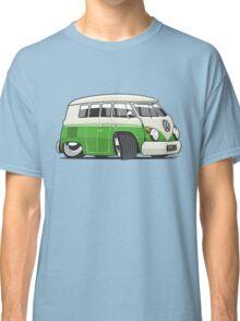 VW T1 Microbus cartoon bright green Classic T-Shirt