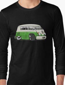 VW T1 Microbus cartoon bright green Long Sleeve T-Shirt