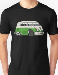 VW T1 Microbus cartoon bright green Unisex T-Shirt