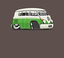 VW T1 Microbus cartoon bright green Unisex T-Shirt
