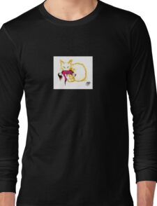 Cat stiker, Not your China Doll the golden cat Long Sleeve T-Shirt