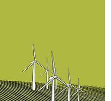 Wind Farm Olive by Martin Allen