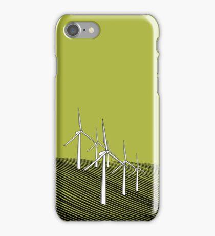 Wind Farm Olive iPhone Case/Skin