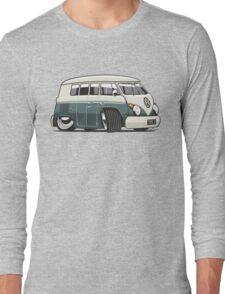 VW T1 Microbus cartoon green Long Sleeve T-Shirt