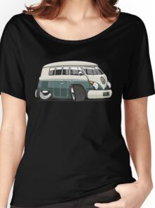 VW T1 Microbus cartoon green Women's Relaxed Fit T-Shirt