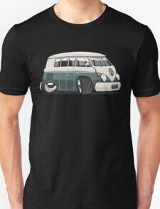 VW T1 Microbus cartoon green Unisex T-Shirt