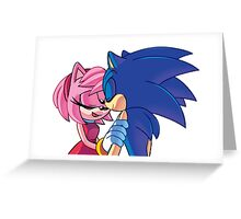Sonamy - Sonic The Hedgehog Greeting Card